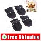 2 Pairs Anti-slip Walking Sporty Shoes Footwear for Dog Cat Pet