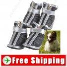 2 Pairs Anti-slip Leather Dog Pet Walking Shoes Footwear Boots