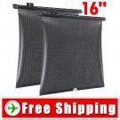 2 x 16 inch Car Curtain Side Window Sunshade Back Window Abat Vent