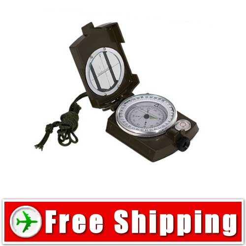 Metal Prismatic Compass - Military Compass- Outdoor Camping