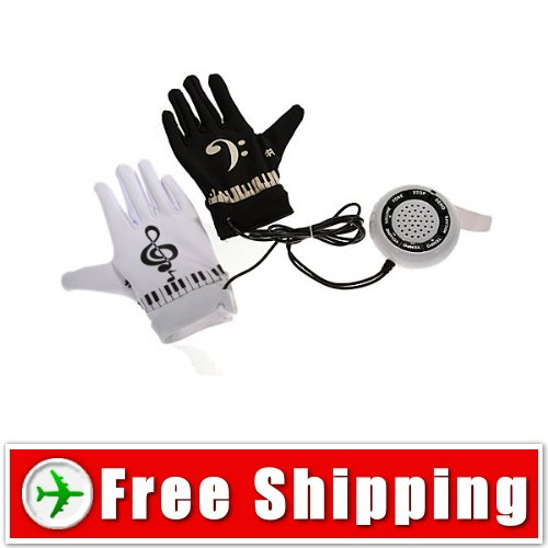 Electronic Piano Gloves - Turn Any Surface into a Piano Free Shipping