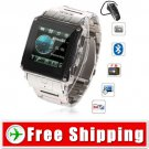 Quad Band Bluetooth Watch Phone Touch Screen FM Free Shipping