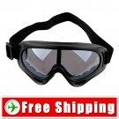 Ski Sports Glasses Goggles Black Lens Black Frame FREE Shipping