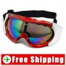 Ski Snowboard Goggles Anti-Fog Anti-Scratch Red FREE Shipping