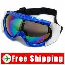 Ski Snowboard Goggles Anti-Fog Anti-Scratch Blue FREE Shipping