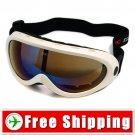 Ski Snowboard Goggles Anti-Fog Anti-Scratch White FREE Shipping