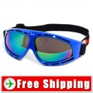 Sport Ski Snowboard Goggles Anti-Fog Anti-Scratch Blue FREE Shipping