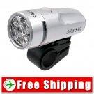 Bicycle 5 LED Bulbs White Lighting Flash Light Lamp FREE Shipping