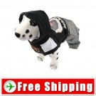 Dog Pullover Style Trousers Clothes with Hoodie Black FREE Shipping
