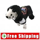 Pullover Style with Hoodie Black for Dog FREE Shipping