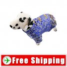 Tang Suit Style Dress Blue Color for Dog Pet FREE Shipping