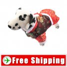 Tang Suit Style Dress Red Color for Dog Pet FREE Shipping