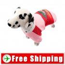Cotton-padded Jacket Clothes Pink for Dog Pet FREE Shipping