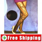 Luxury Sexy Chamonix Floral Tights Pantyhose 20D Black FREE Shipping