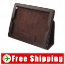Lichee Pattern Tobago Leather Case For iPad 2 Brown FREE Shipping