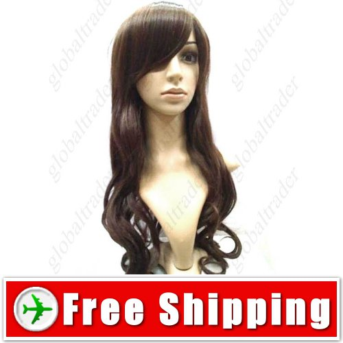 Feminine Hair with Long Wavy Drops Wig Hairpiece FREE SHIPPING