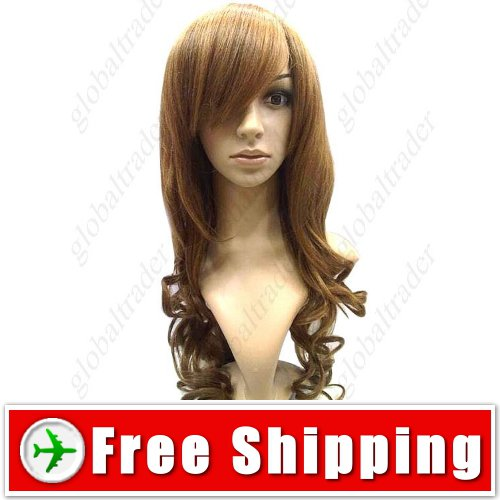 Sweet Doll Style with Thick Tilted Bang Wig Hairpiece FREE SHIPPING