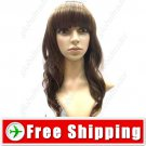 Vibrant Stylish Hair Long Perm Curl Wig Hairpiece Brown FREE SHIPPING