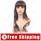Natural Long Wavy Curly Wig with Full Bangs Hairpiece FREE SHIPPING