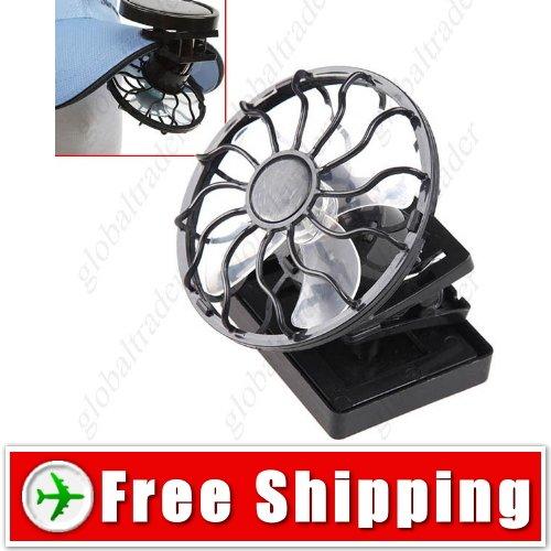 Mini Solar Power Energy Clip-on Cap Hat Cooling Fan FREE SHIPPING