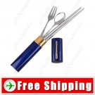 Portable Cutlery Kit Stainless Chopsticks Spoon Fork Set FREE SHIPPING