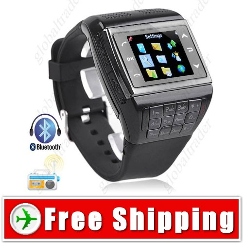 1.3 inch Unlocked Watch Mobile Cell Phone Bluetooth FM Compass
