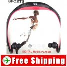 Free Shipping Free Style 2GB Sports MP3 Player Headset Handsfree
