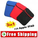 3 x Soft Protective Cover Bag Case for iPad Netbook FREE SHIPPING