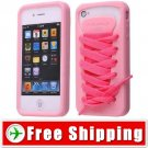Sporty Pink Shoe Silicone Skin Case for iPhone 4G FREE SHIPPING