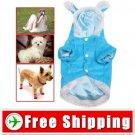 Dog Wear Puppy Plush Sweather Coat with Rabbit Ear Cap FREE SHIPPING