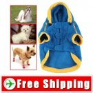 Dog Wear Sports Puppy Plush Sweather with Cap FREE SHIPPING