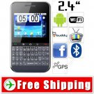 2.4 inch Resistive QWERTY GPS 2-Sim Android 2.2 Smart Phone WiFi TV