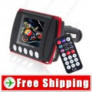 New 1.8 inch LCD Car MP3 MP4 Player FM Transmitter
