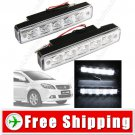2 x LED Daytime Running Light Head Lamp for Car Vehicle Automobile