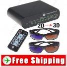 Novel 2D to 3D Conversion Signal Video Converter Box Set for TV DVD