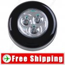 Portable 3-LED Bright Mini Touch Light Emergency Push Lamp