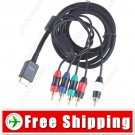 1.8m Gold Plated 5-in-1 Video & Audio Component AV Cable for PS2 PS3