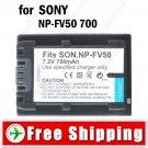 Battery NP-FV50 for Sony HDR-UX5E HDR-HC7E HDR-HC5E HDR-HC3E DCR-SR10