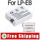 Camera Li-Ion LP-E8 LPE8 Battery for Canon EOS 550D Rebel T2i