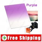 Lens Filter Front Gradual Change Color Filter 83mm DSLR Lens - Purple