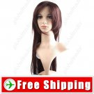 Synthetic BOB Styling Straight Long Wig - Swept Bangs Hairpiece