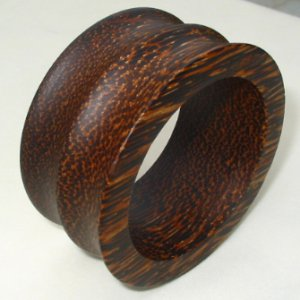 Unique & Wide Wooden Bangle beautiful grain wood handmade