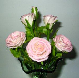 Handmade PINK ROSES Flowers for Home Decor