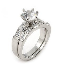 1.5ct Cubic Zirconia Wedding Set