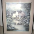 "Indiana Artist Linda Bennett  Art Print ""JEFFERSON MILL"" Framed Signed/Numbered"