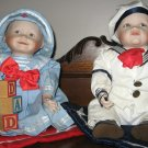 "Ashton Drake YOLANDA'S PERFECT BABIES ""Amanda"" & ""Matthew"" Porcelain Collectible Dolls"