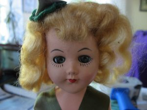"Vintage 1955 11"" Irish St Patrick's Day Walking Doll"