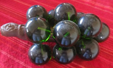 Vintage 1960s Acrylic Lucite Grape Clusters Olive Green