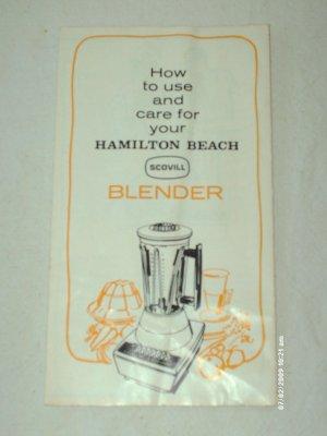 Manual - Hamilton Beach Scovill Blender