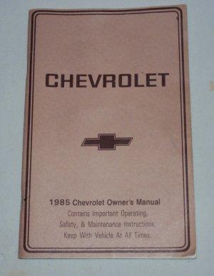 1985 Chevrolet Owner�s Manual